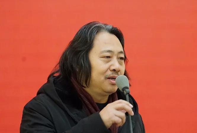 中国国家画院教学部主任、青年画院副院长贾广健致辞