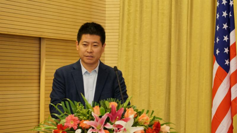 美国中国文化艺术基金会中国办事处主任郑玉桂致辞
