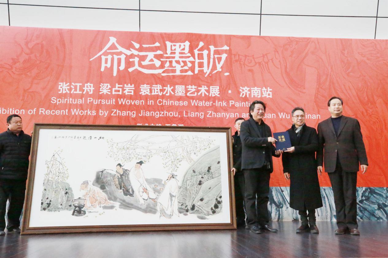 三位艺术家向济南市美术馆捐赠作品