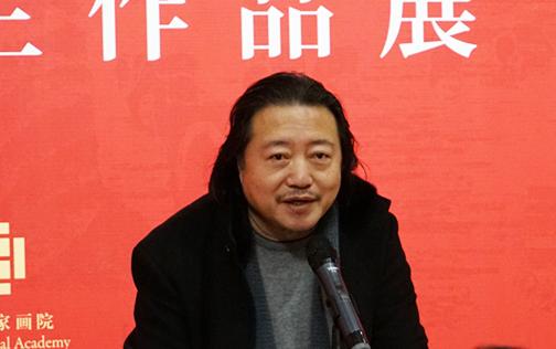 中国国家画院副院长纪连彬主持开幕式