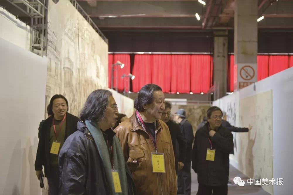 刘曦林、杨晓阳、冯远、纪连彬、尚辉等在验收评审现场