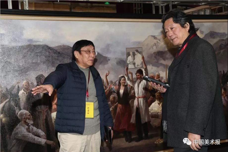 俞晓夫、张江舟在验收评审现场