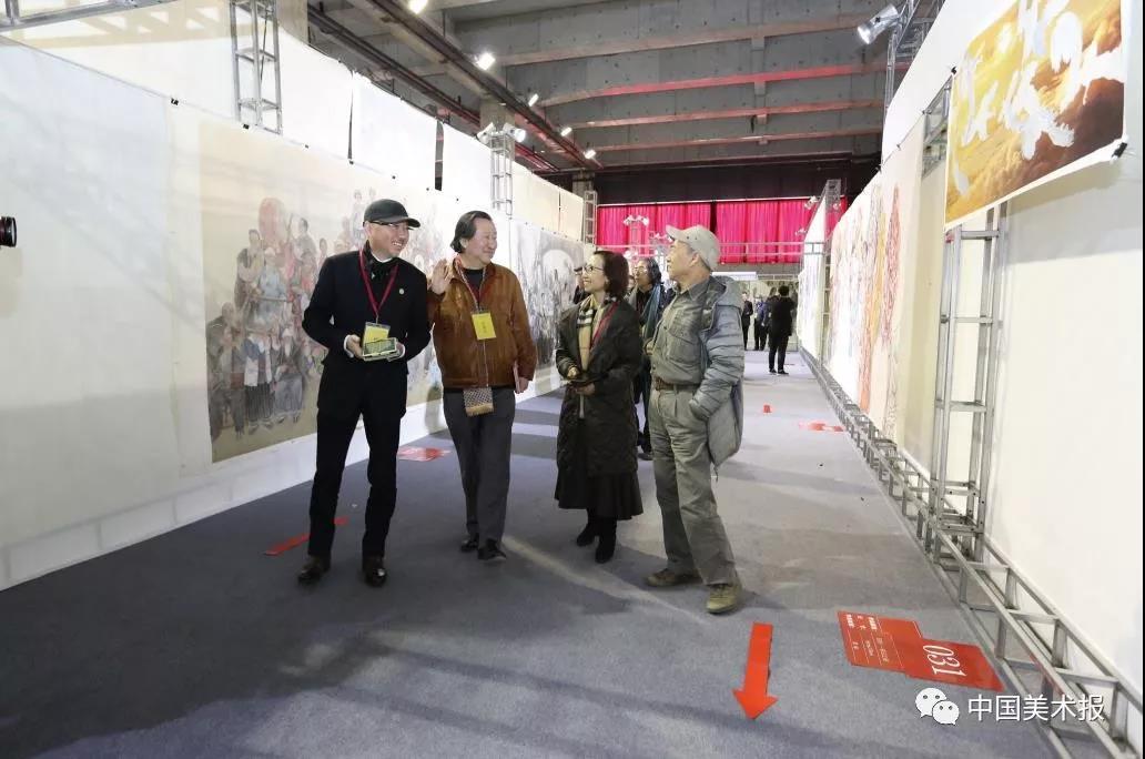 阿鸽、李象群、杨晓阳、孙景波、刘曦林等在验收评审现场