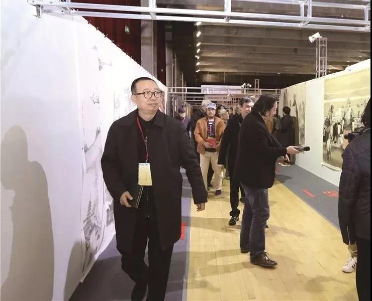 潘鲁生、纪连彬、郭线庐、黎明等在验收评审现场