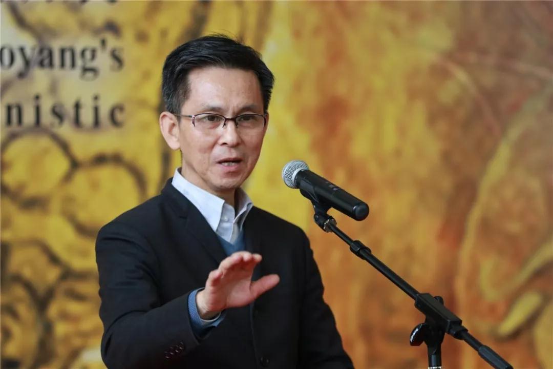 中国美协副主席、中国艺术研究院工笔画研究院院长何家英致辞