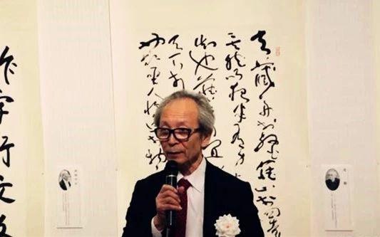 日本美术新闻社社长萱原晋主持开幕仪式