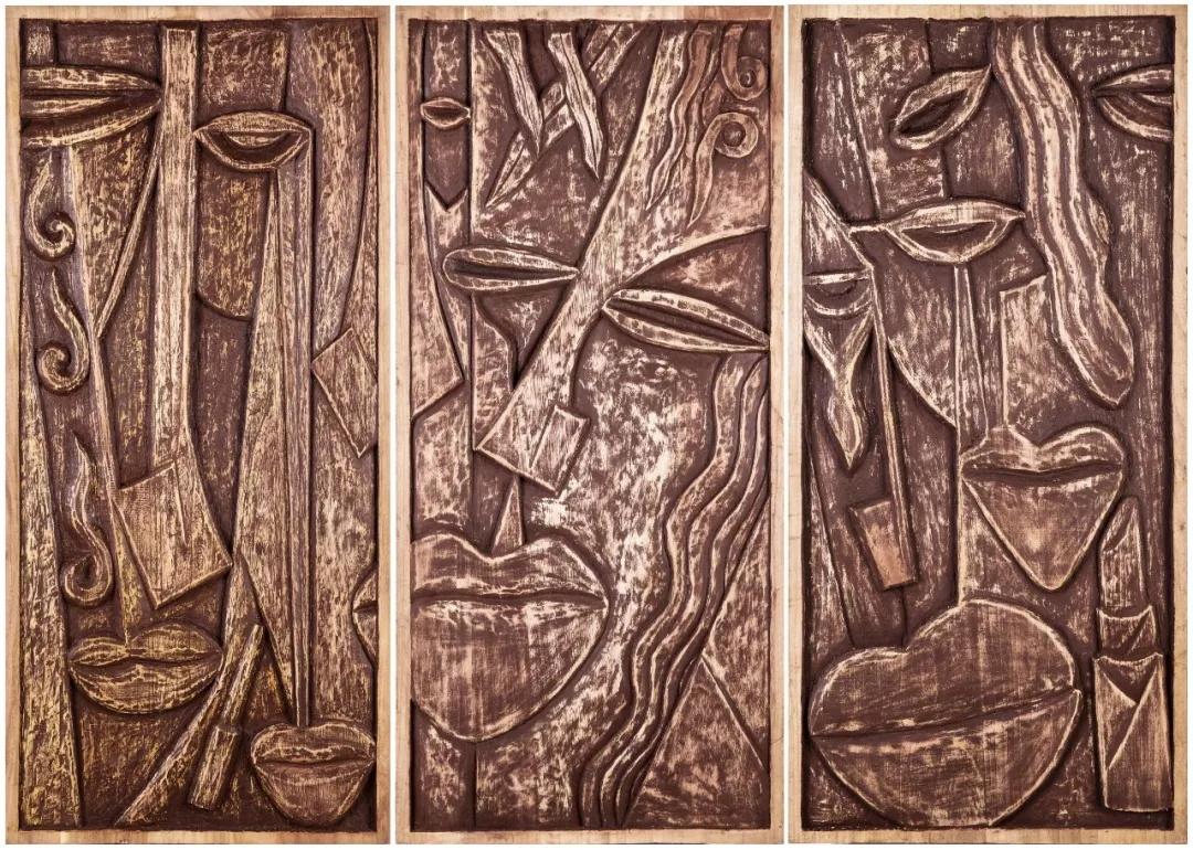 李明珠  表情三部曲  木雕