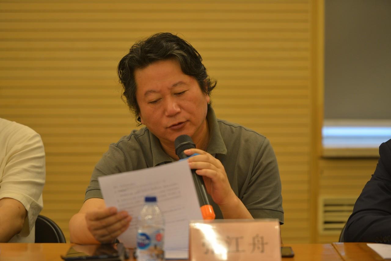 组委会、艺评会副主任,中国国家画院副院长张江舟宣读《第六届全国画院美术作品展复评评审章程》