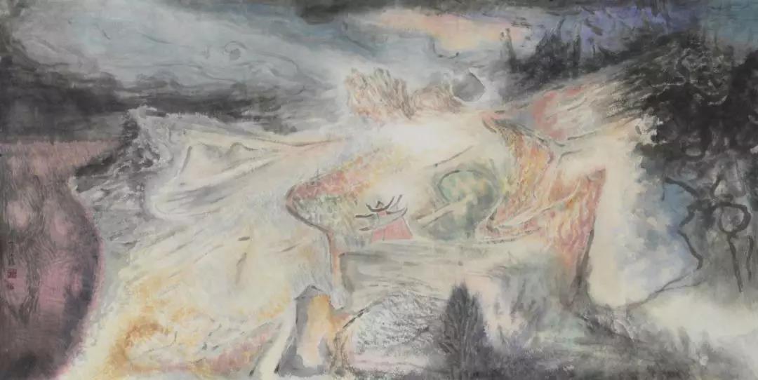 胡应康《山水画》