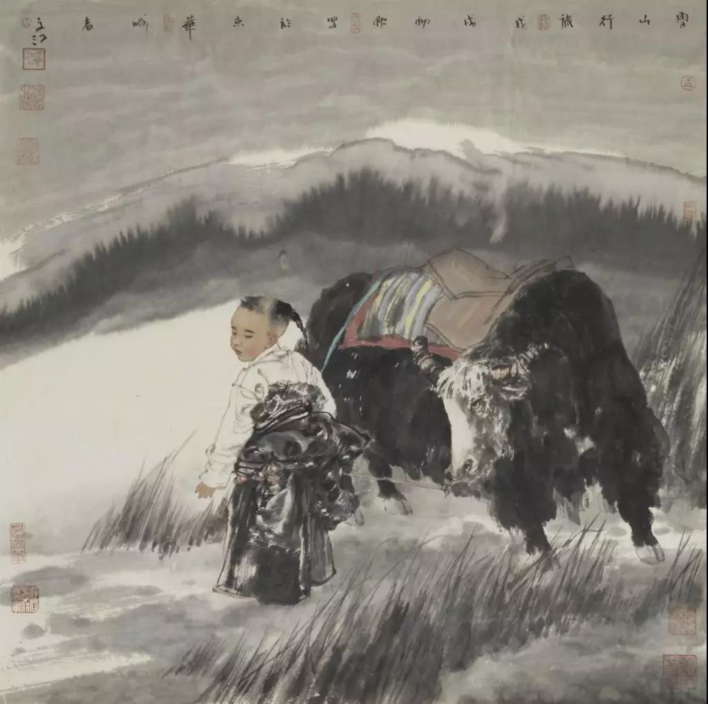 于文江《雪山行旅》