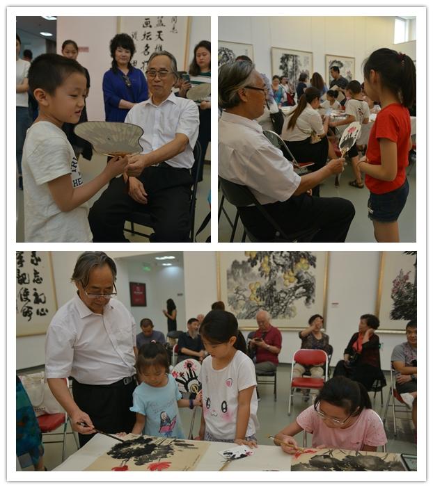 鲁老师指导小朋友创作并点评作品