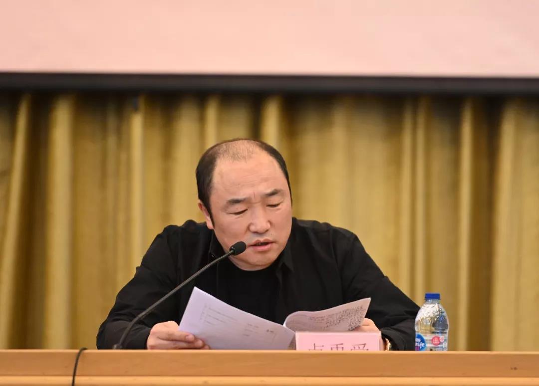 中国国家画院常务副院长卢禹舜介绍项目整体方案