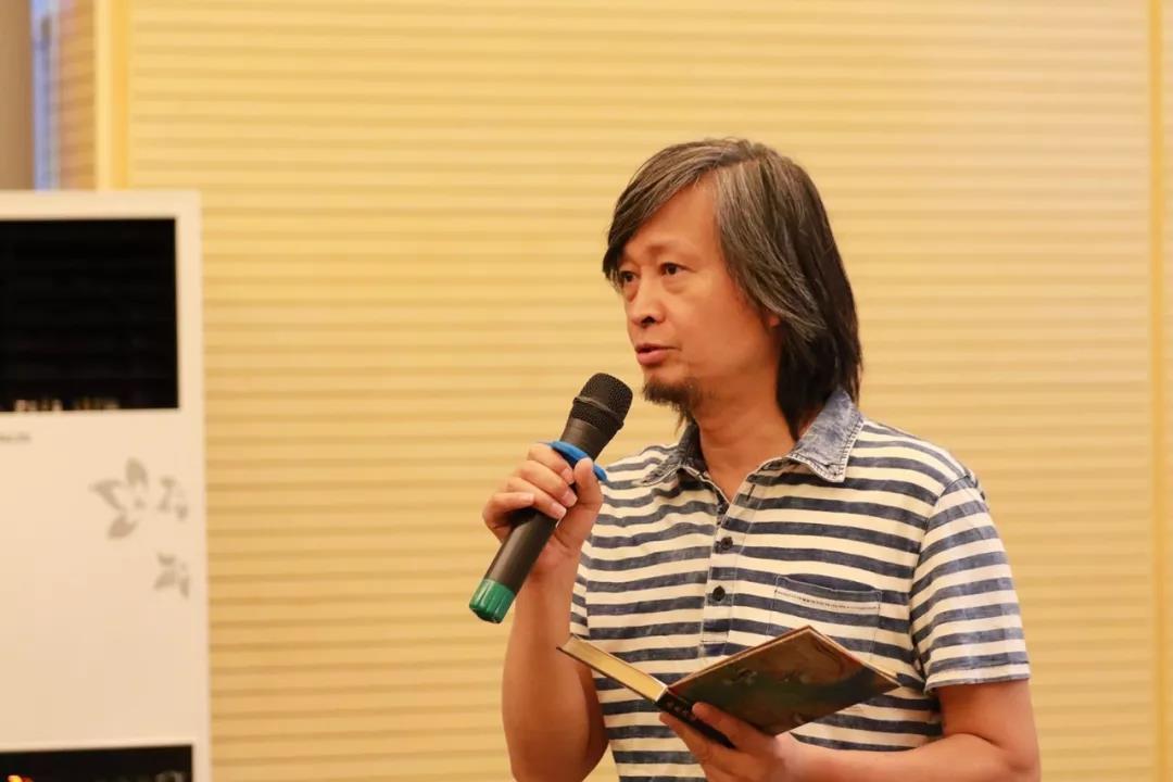 学术日工作组主持人中国国家画院美术馆馆长、艺术家何加林