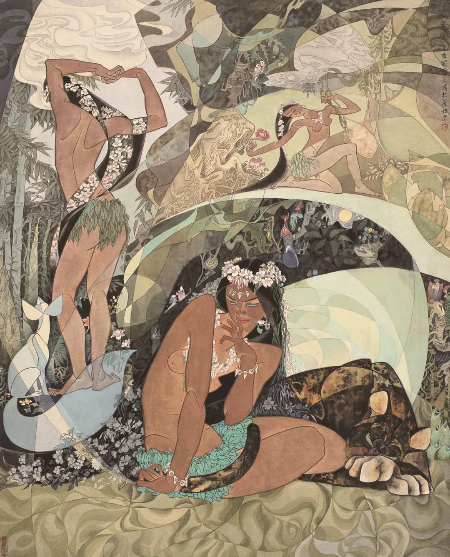 李少文  山鬼图  101×81cm  20世纪80年代  中国画