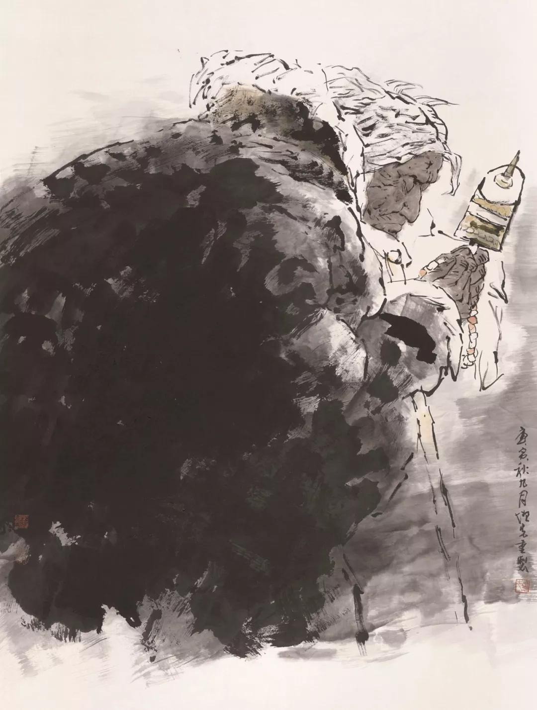 方增先  水墨人物  128×96cm  2010年  中国画