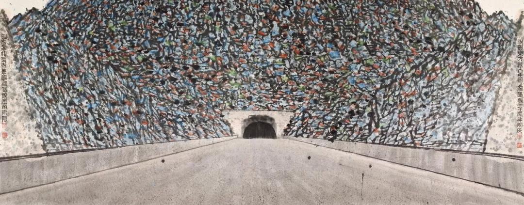 姜宝林  黔西南所见  144×366cm  2011年  中国画