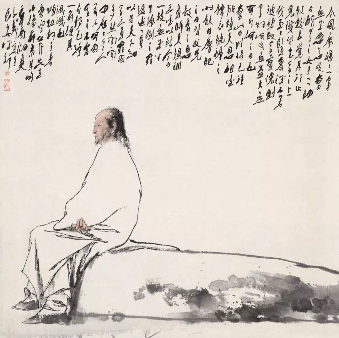 王子武  曹雪芹像  99×100cm  1981年  中国画