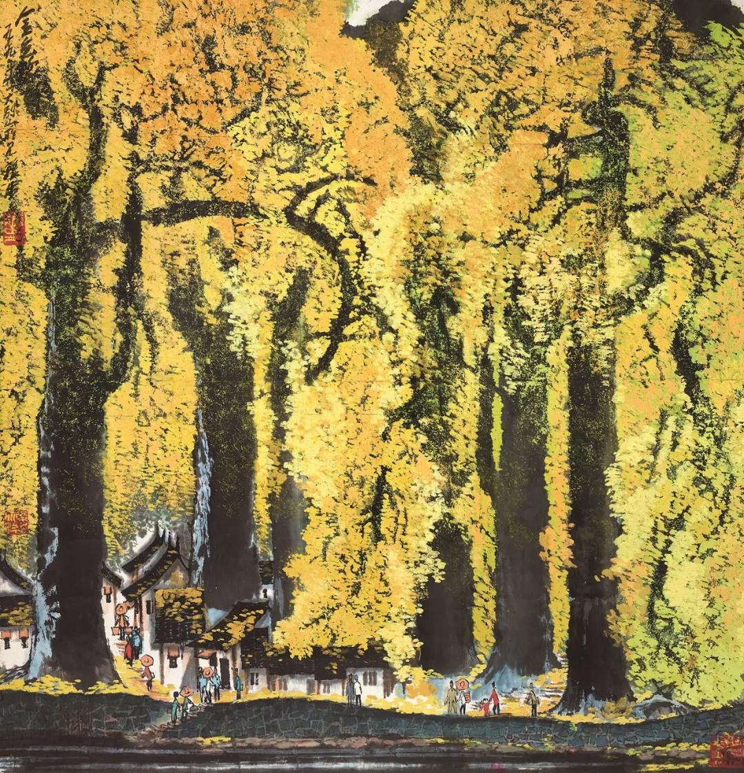 张步  金色豫南  67×68cm  中国画