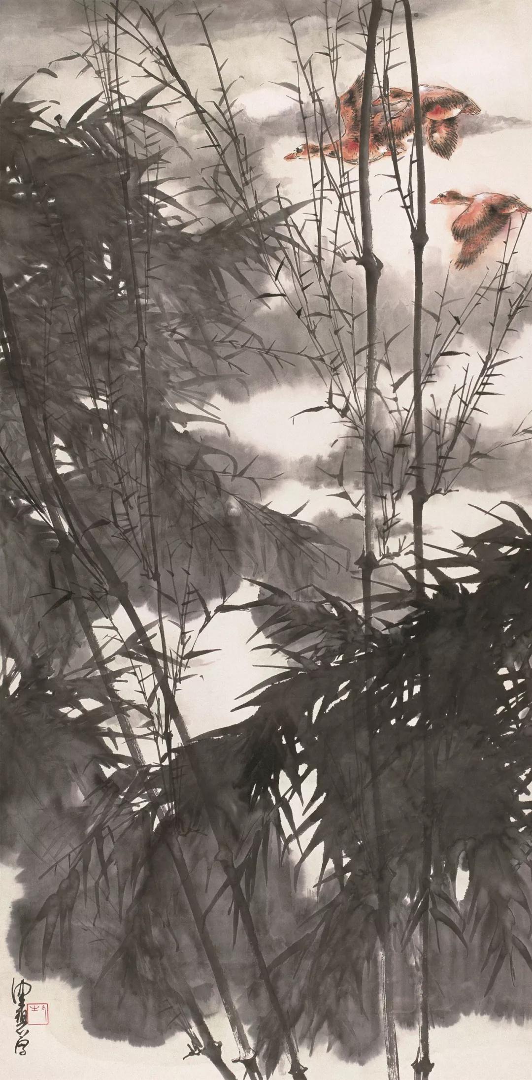 陈佩秋  竹林清漓  136×70cm  20世纪80年代  中国画