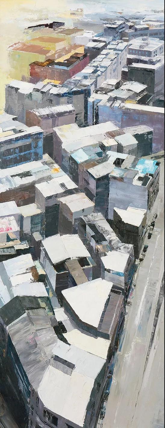 黎小杰 逆光 油画 150cm×58cm 2019年