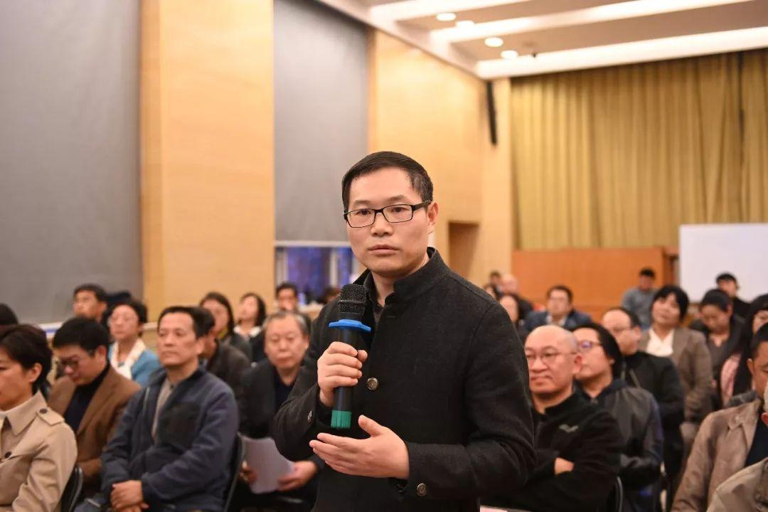 中国国家画院党委书记张士军提问