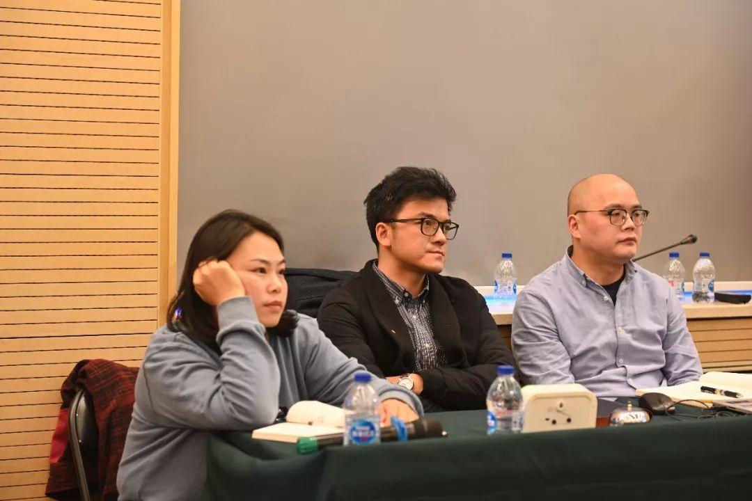 学术日工作组成员:左起中国国家画院美术馆副馆长常欣、人事处负责人董雷、创研部唐朝轶