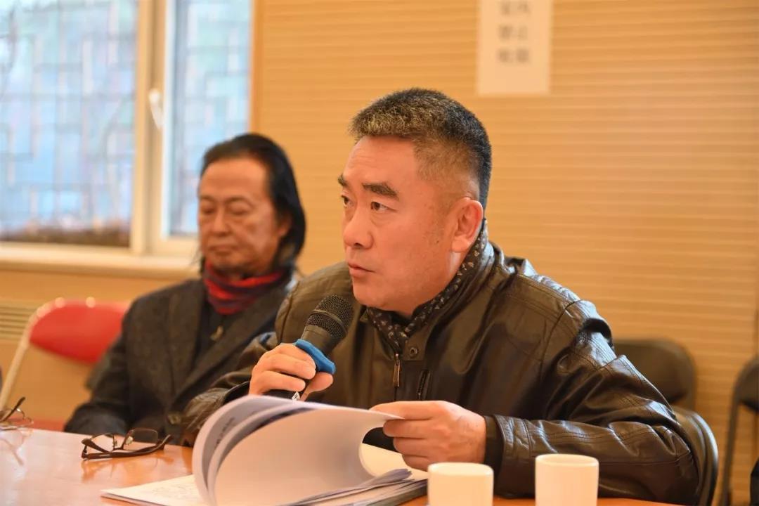 中国国家画院一级美术师罗贵荣发言