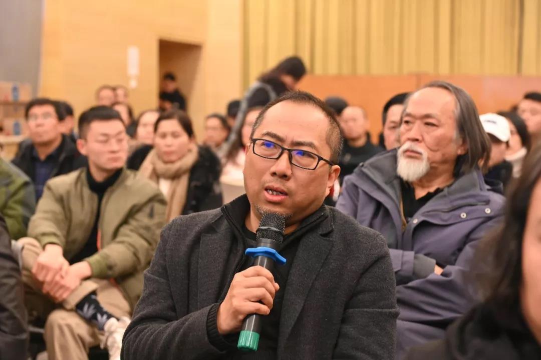 中国国家画院花鸟画所所长乔宜男发言