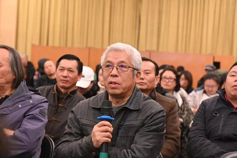 中国国家画院版画所负责人杨越发言
