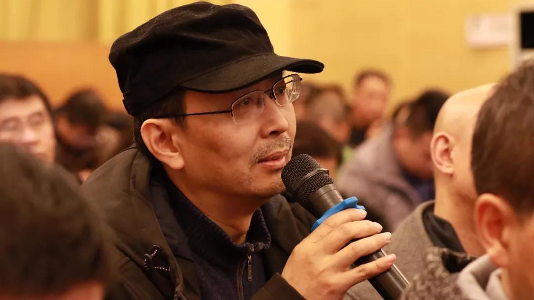 中国国家画院书法篆刻所艺术家蔡大礼发言