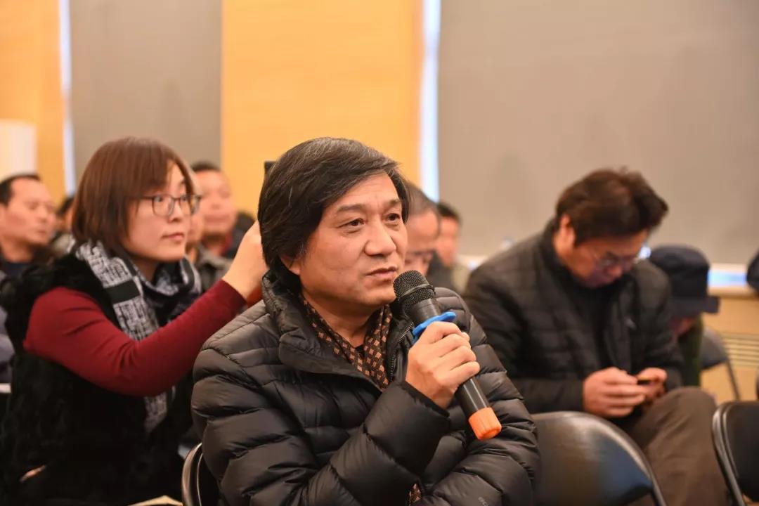 中国国家画院人物画所艺术家王辅民发言