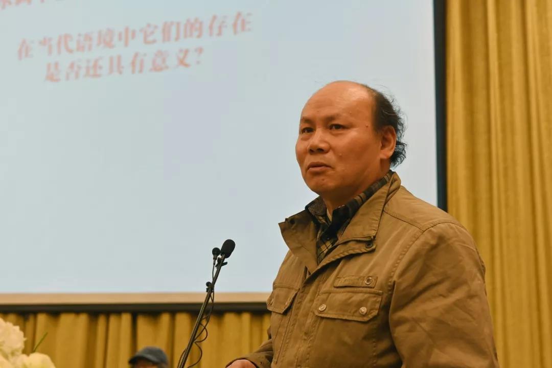 主旨演讲中的中国国家画院山水画所艺术家胡应康