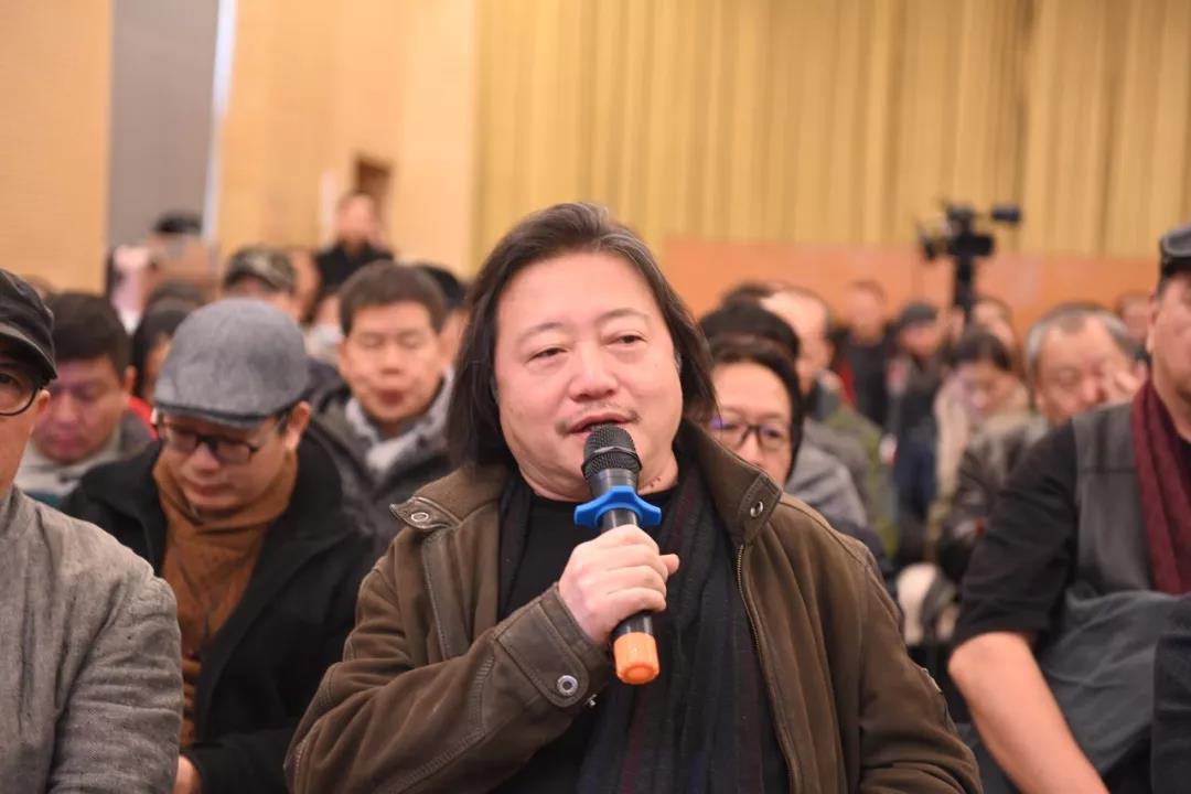中国国家画院副院长纪连彬发言