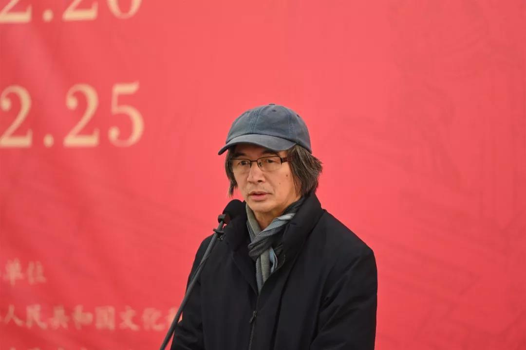 中国国家画院艺术家代表林容生致辞