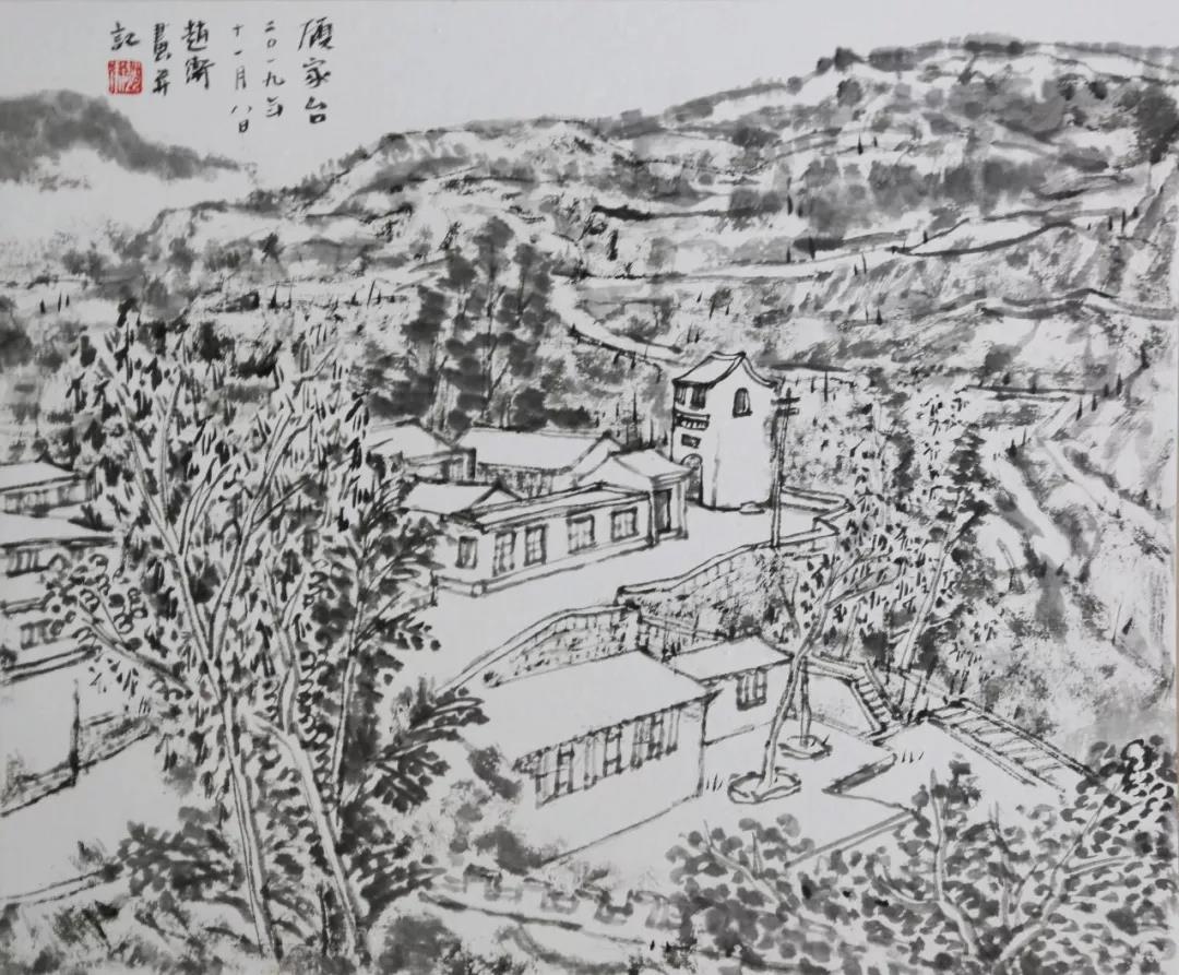 阜平写生  45x52cm  2019