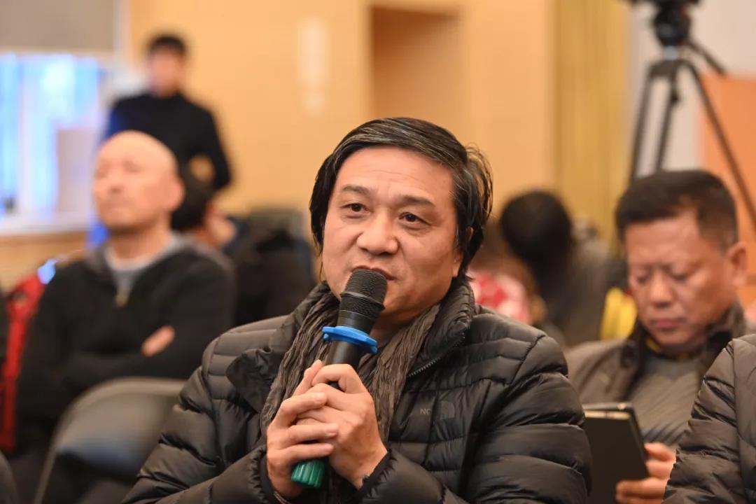 中国国家画院人物画所名誉所长王辅民发言