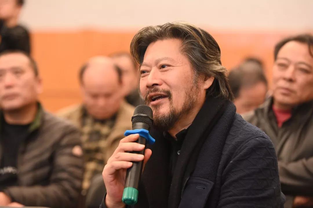 中国国家画院雕塑所负责人王艺发言