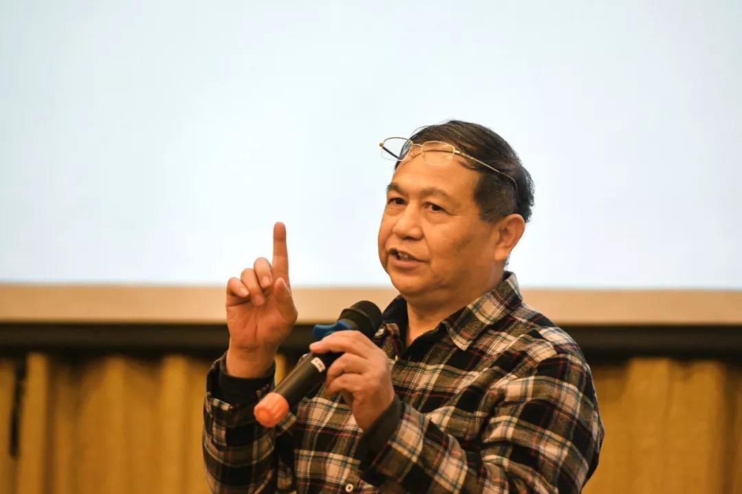 主旨演讲中的中国国家画院书法篆刻专业委员会副主任、书法篆刻所艺术家曾翔