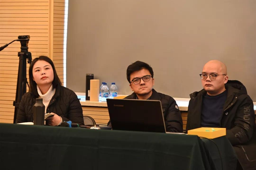学术日工作组成员:左起中国国家画院美术馆副馆长常欣、创研规划处负责人董雷、创研规划处唐朝轶