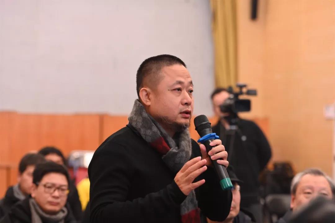 中国国家画院山水画所负责人方向发言并提问