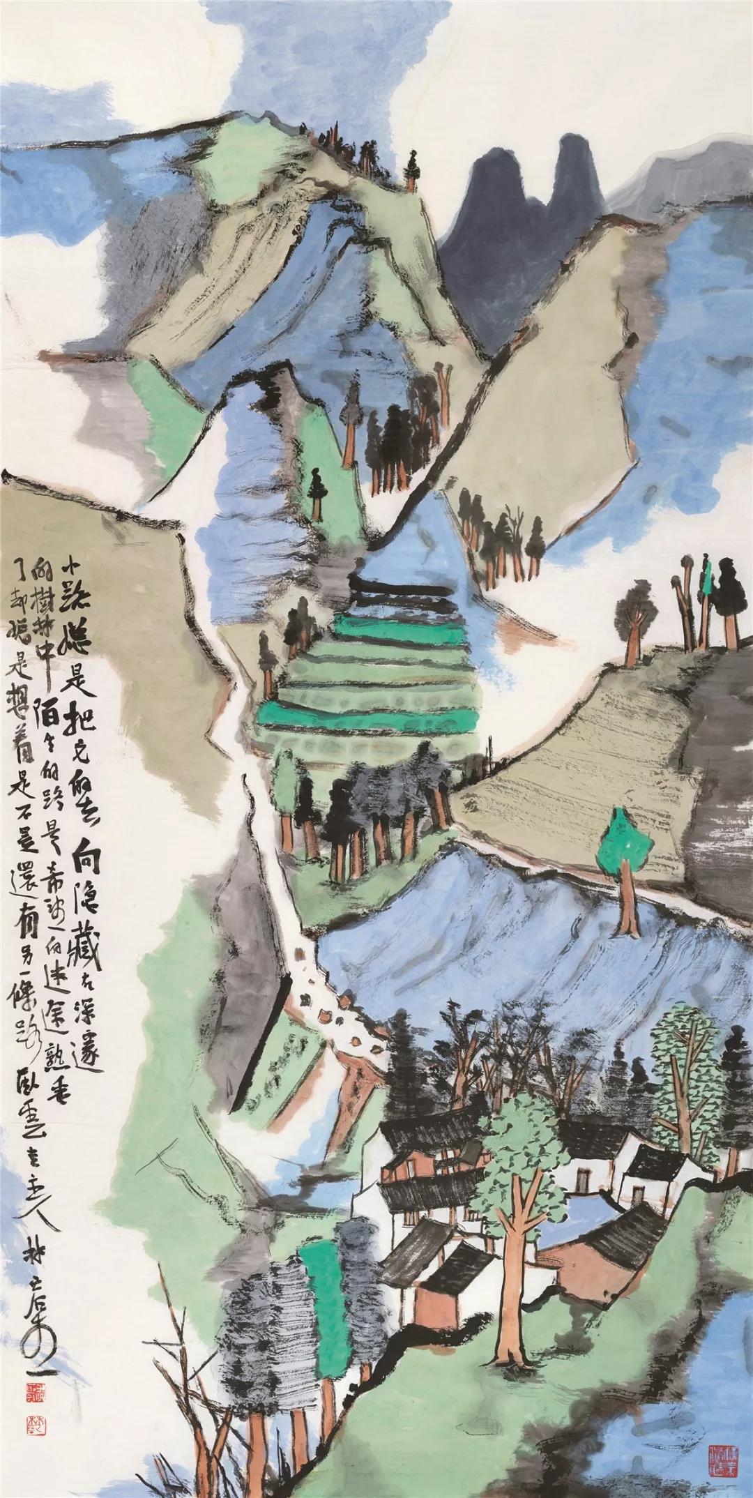 林容生  小路 136cm×68cm  2019年
