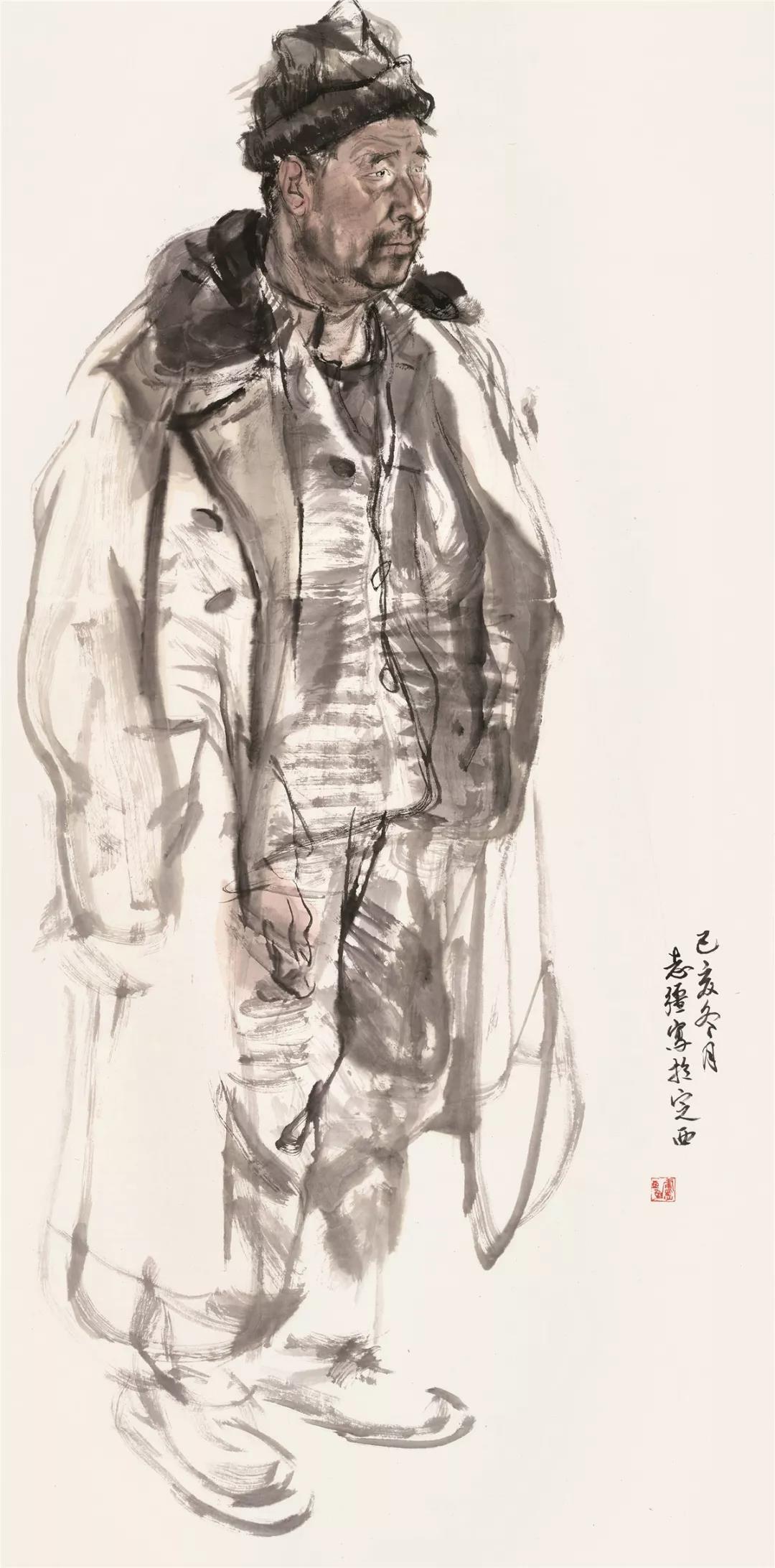 卢志强  人物写生之二 136cm×68cm 2019年