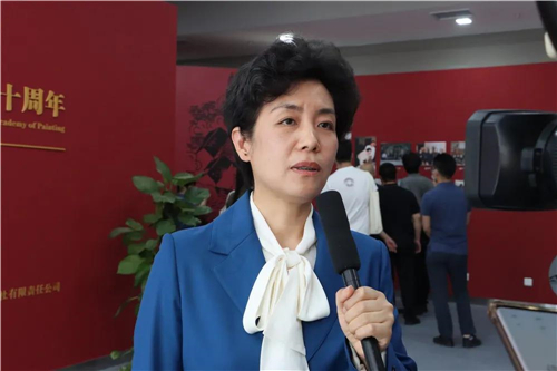 中国国家画院党委副书记、纪委书记王青云接受采访